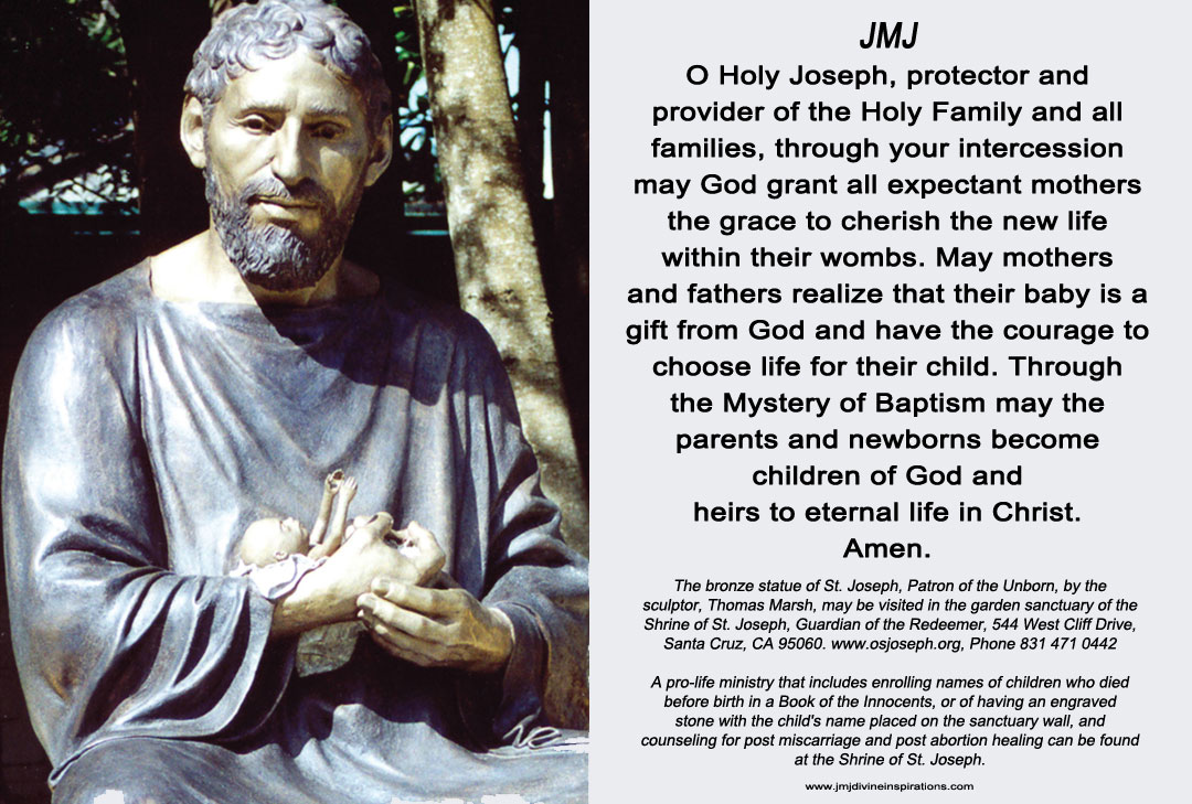 picture relating to Printable Prayer to St. Joseph known as Solemnity of Saint Joseph, Partner of Mary, Patron of the